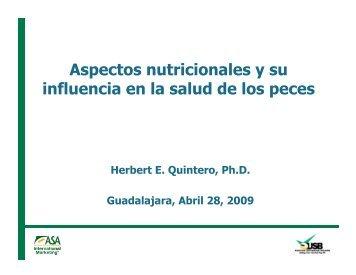 Aspectos nutricionales y su influencia en la salud de los peces