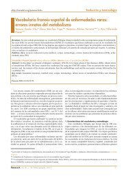 Vocabulario francés-español de enfermedades raras: errores ...