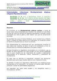 Enfermedades Infecciosas Micobacteriosis Atípicas ... - Veterinaria.org