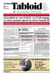 Aprile/Maggio 2007 - Ordine dei Giornalisti