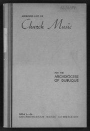 ARCHDIOCESE OF DUBUQUE - Digital Repository Services