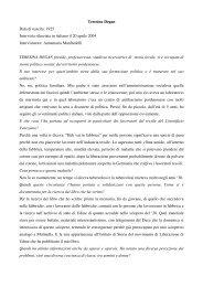 Teresina Degan Data di nascita: 1925 Intervista rilasciata ... - Alp Cub