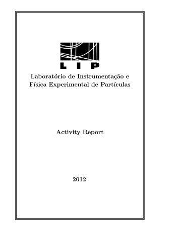 Laboratório de Instrumentaç˜ao e F´ısica Experimental de Part ... - LIP
