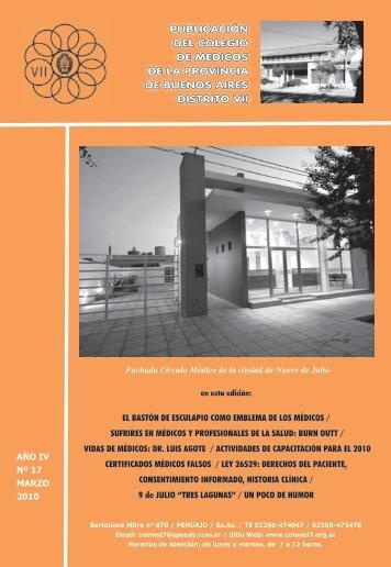 PUBLICACIÓN DEL COLEGIO DE MEDICOS DE LA ... - Distrito VII