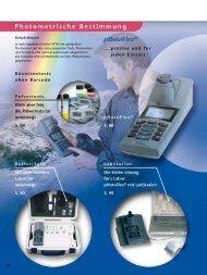 Photometrische Bestimmung pHotoFlex® - WTW.com