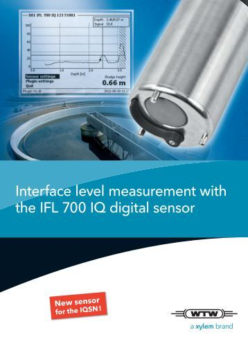 IFL 700 IQ digital sensor - Xylem Analytics UK