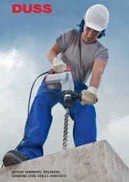 rotary hammers, breakers diamond core drills 2009/2010 - DUSS