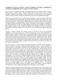 CAMPIONATI ITALIANI CADETTI - PER LA SCIABOLA UNA PROVA ...