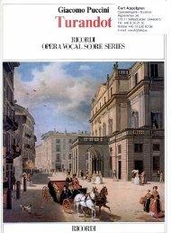 Turandot - Opera Vocal Score - Areopago.com.uy