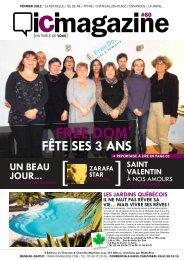 C'est la une FREE DOM' - ICI Magazine