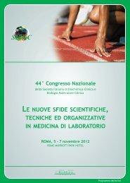 programma SIBioC 2012 - 44° Congresso Nazionale SIBioC