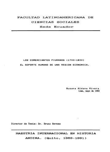 MAESTRIA INTERNACIONAL EN HISTORIA ... - Flacso Andes