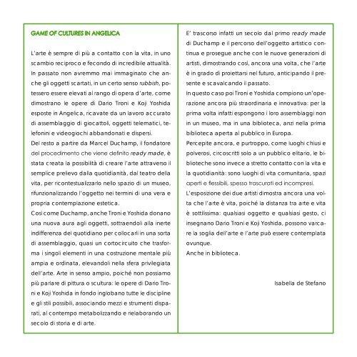 GAME OF CULTURES - Galleria Gagliardi