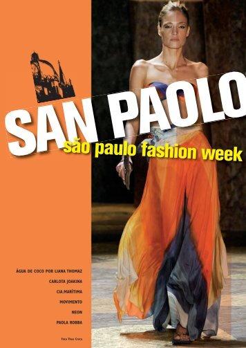 são paulo fashion week - Beachwear on stage