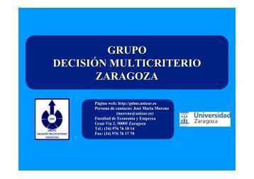 GDMZ - Grupo Español de Decisión Multicriterio - Información