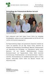 Schulpflege neu - Primarschule Berikon