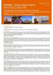 MYANMAR Land der goldenen Pagoden
