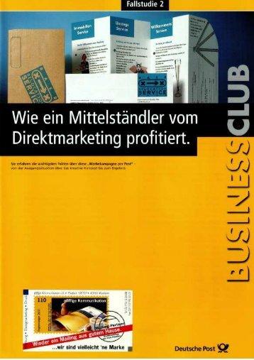 """""""Wie ein Mittelständler vom Direktmarketing ... - Pfiffige Kommunikation"""