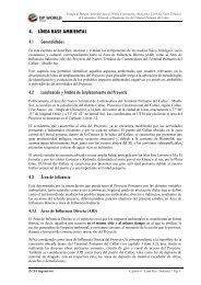 Línea Base Ambiental - Ministerio de Transportes y Comunicaciones