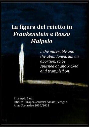 La figura del reietto in Frankenstein e Rosso Malpelo