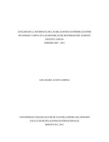 Análisis de la Incidencia de las Relaciones Económicas entre ...