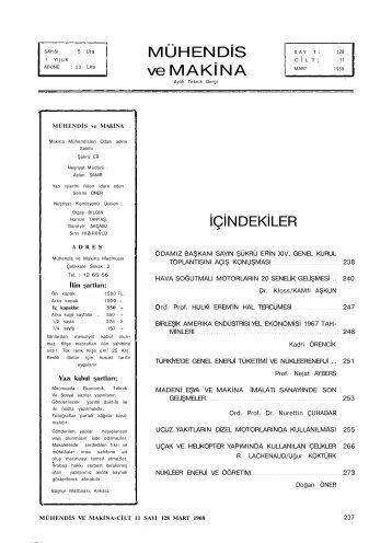 MÜHENDİS ve MAKİNA - TMMOB Makina Mühendisleri Odası Arşivi ...