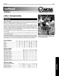 2002 NCAA Spring Championships Records Book