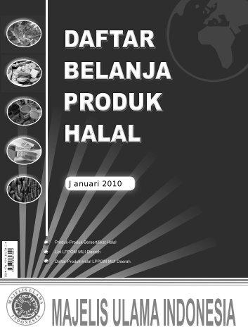 Daftar Belanja Produk Halal 2010 - Kantor Wilayah Riau