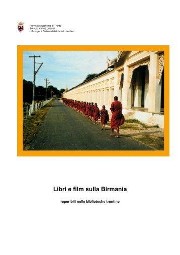 Libri e film sulla Birmania - Trentino Cultura