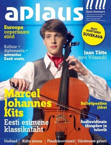 Klassikatäht 2013 Marcel Johannes Kits - Eesti Kontsert
