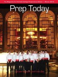 the Magazine for Fairfield college preparatory School • Winter 2010