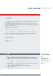 Bedingungen zur Haftpflicht- versicherung 2008 - Würzburger ...