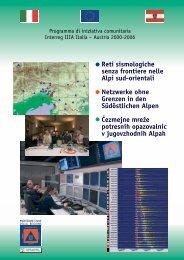 Reti sismologiche senza frontiere nelle Alpi sud-orientali Netzwerke ...