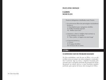 projeto leitura e didatização - Editora Saraiva