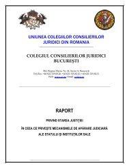 Raport privind starea justitiei