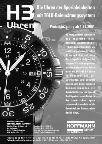 Preisliste, gültig ab 1.11.2004 - Hoffmann-Import