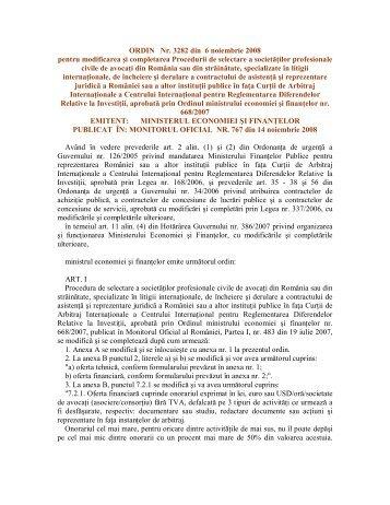 ORDIN Nr. 3282 din 6 noiembrie 2008 pentru modificarea şi ... - ANAF