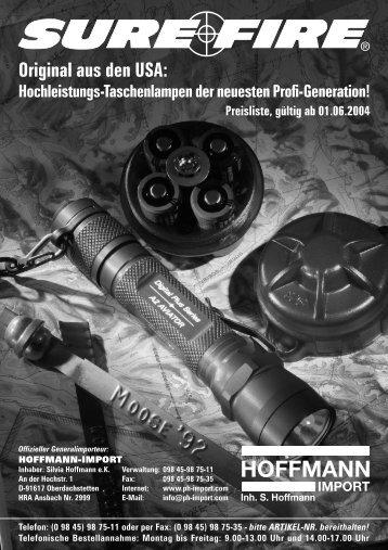 SureFire Preisliste - Hoffmann-Import