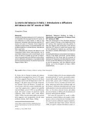 La storia del tabacco in Italia. I. Introduzione e diffusione del ... - Inea