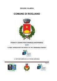 Piano - Comune di Rogliano