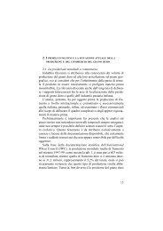 I profili evolutivi e la situazione attuale della produzione e del ...