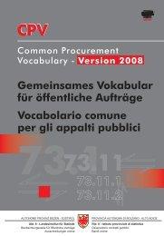 CPV CPV - Provincia Autonoma di Bolzano