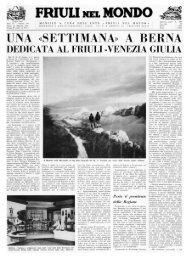 FRIULI NEL MONDO UNA SETTIMANA A BERNA - Ente Friuli nel ...