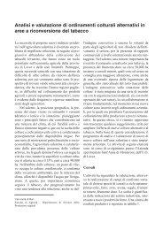 Analisi e valutazione di ordinamenti colturali alternativi in aree ... - Inea