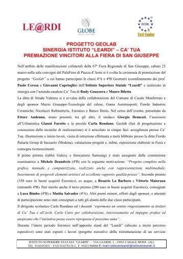 Progetto Geolab - Istituto Superiore Statale Leardi