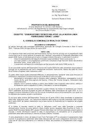 Osservatorio Tecnico relativo alla nuova linea ferroviaria Torino