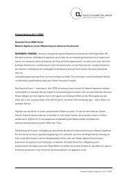 Pressemitteilung 04.11.2005 Executive Forum 2005 Venice Network ...