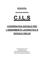 Scarica lo statuto - CILS Cesena