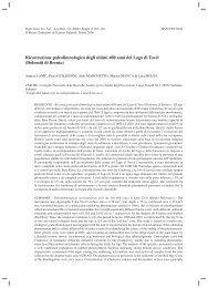Ricostruzione paleolimnologica degli ultimi 400 anni del Lago di Tovel