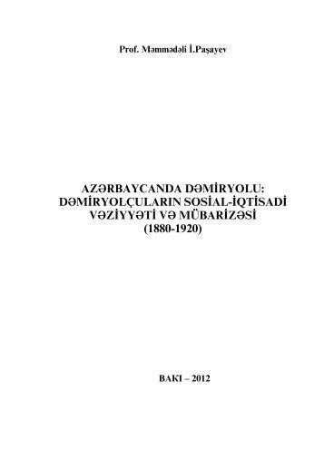 dəmiryolçuların sosial-iqtisadi vəziyyəti və mübarizəsi - Azərbaycan ...
